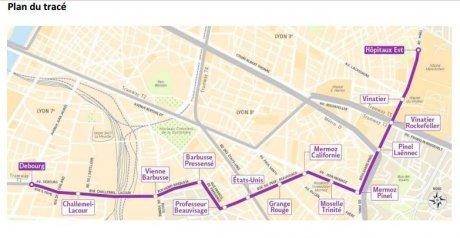 Lyon le tram t6 sur les rails for Garage du tram villeurbanne