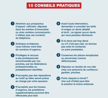 10 conseils pratiques pour éviter les arnaques en cas de dépannage à domicile