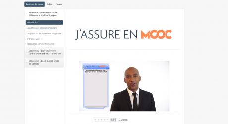 Capture d'écran J'assure en MOOC 2