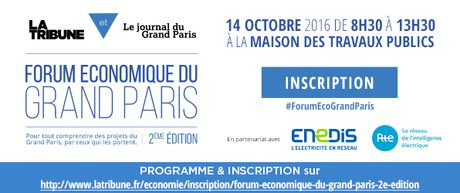 FORUM ECONOMIQUE DU GRAND PARIS Inscription