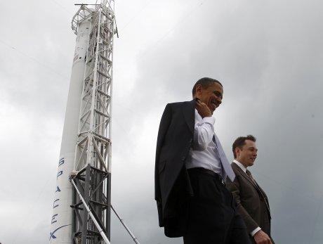 Obama, Musk, SpaceX, Cape Canaveral, fusée, spatial, conquête de l'espace, Mars,