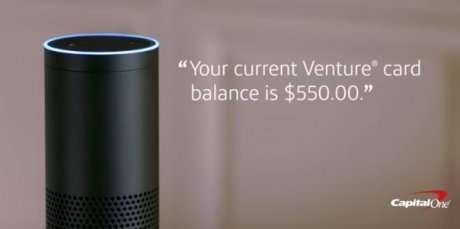 chatbot Capital One Alexa Amazon Echo