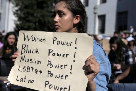 Manifestations anti-Trump, Berkeley, lycéens, Californie, Etats-Unis