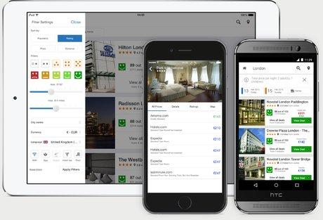 Trivago, Expedia, comparateur de chambres d'hôtels en ligne,