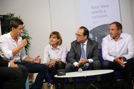 Hollande et les startups IOT