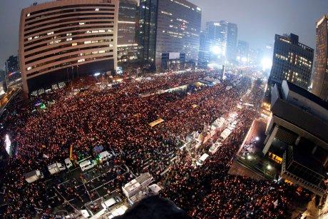 Corée du Sud, manifestation, présidente Park Geun-hye, corruption, scandale,