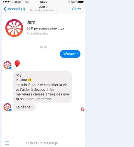 chatbot Jam Messenger