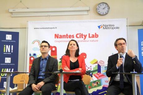 Francky Trichet, Johanna Rolland, Olivier Laboux, Université, Nantes City Lab, numérique, Smart City, Thual, Batiprint 3D, Yhnova,