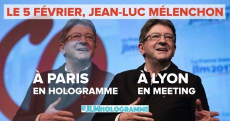 meeting hologramme de Jean-Luc Mélenchon