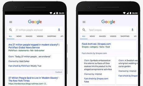 Google lance un outil de fact-check pour lutter contre les fake news