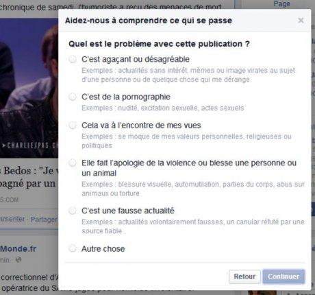 signalement facebook