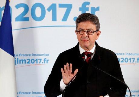 Le candidat de la France insoumise Jean-Luc Mélenchon