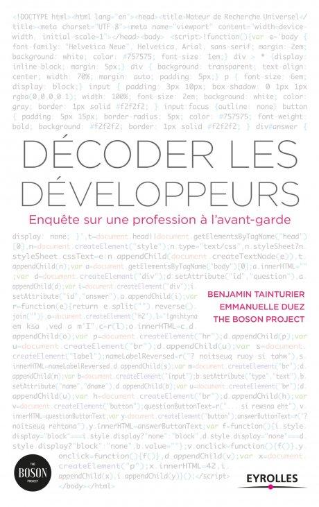 Decoder les développeurs, livre, Eyrolles, Tainturier, The Boson Project,