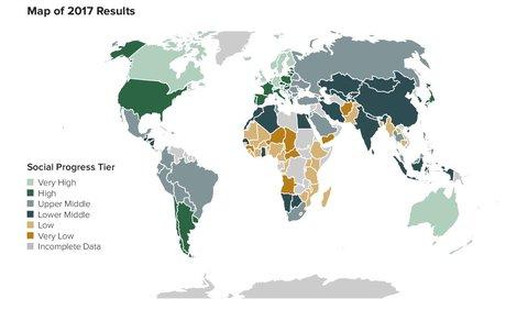Social Progress Index map
