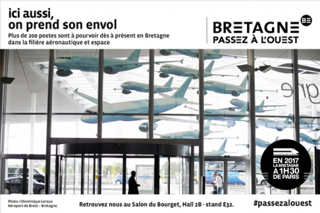 Bretagne, envol, aéronautique, campagne pub, attractivité, territoires,