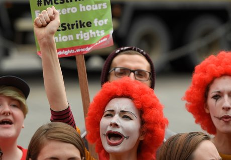 Premiere greve de l'histoire de mcdonald's au royaume-uni