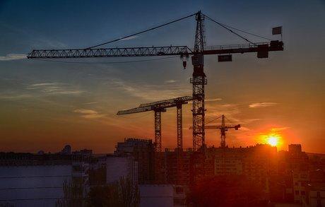 chantier construction grue