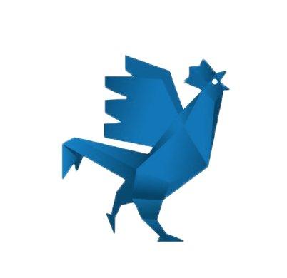 French Fab, coq bleu,