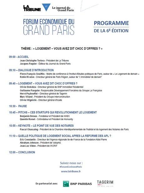 Programme Forum Eco 27/10