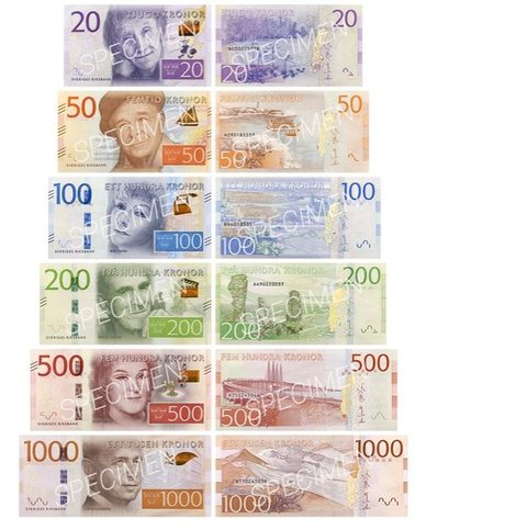 Billets Suède Riksbank Couronne