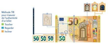 Billet 50 euros authentification