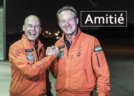 Bertrand Piccard et André Borschberg