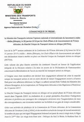 Niger MUTAA