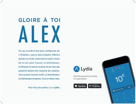 Pub Lydia paiement mobile