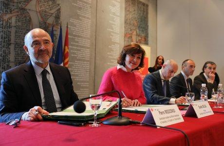 Visite de Pierre Moscovici à Toulouse février 2018