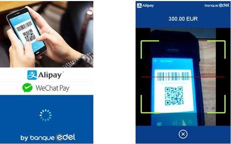 Alipay Wechat Pay Banque Edel paiement mobile