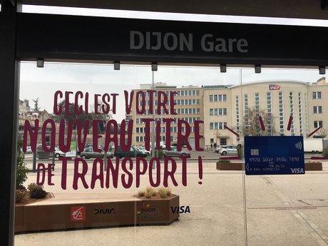Dijon gare sans contact Visa