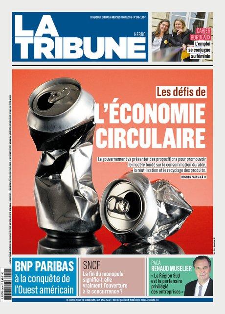 HEBDO 246 couv, La Tribune, Édition hebdomadaire du 30/03/2018, économie circulaire,