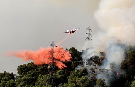 feu de forêt près de Nice