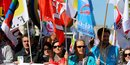 Les syndicats de fonctionnaires dans la rue contre le gouvernement