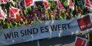 Manifestation pour une hausse des salaires dans les services publics allemands