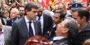 Arnaud Montebourg, ministre du Redressement productif, visite la Mecanic Vallée à Figeac
