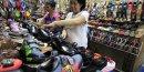 Vente de chaussures aux Philippines (Asie)