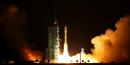 La station spatiale chinoise Tiangong-2 lors de son décollage le 16 septembre 2016