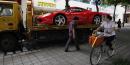 Chine, Ferrari, vélo, auto, luxe, richesse, pauvreté, voiture, véhicule, shopping,