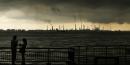 fumée industrie sombre énergie centrale cheminée