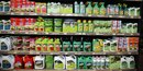 Pesticides dans un magasin rayon
