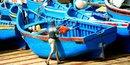 Pêche artisanale port Maroc Imssouan