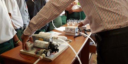 Le système de désinfection de l'eau par LED UV créé par T.Zic
