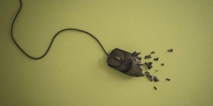 Illustration H310 souris ordinateur clic informatique