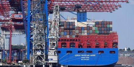 Commerce mondial, porte conteneurs