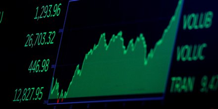 Le Dow Jones, indice vedette de la Bourse de New York, à la fermeture, le lundi 2 mars 2020
