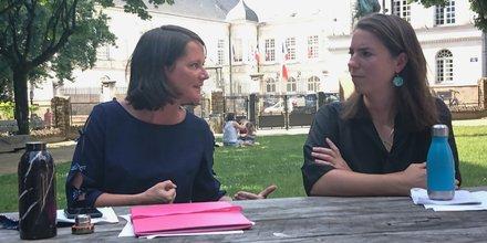 Johanna Rolland (PS) et Julie Laernoes (EELV)