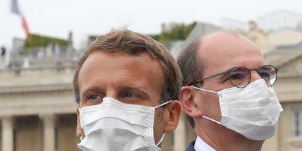 Le Premier ministre Jean Castex en présence du président Emmanuel Macron, lors de la traditionnelle cérémonie du 14 juillet