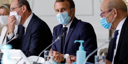 Élysée, Macron, Castex, Le Drian