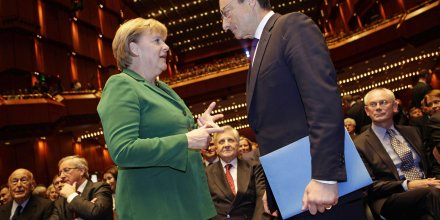 Draghi Merkel